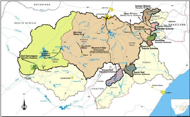 DWA: Integrated Vaal River System WRM Studies   Study Area